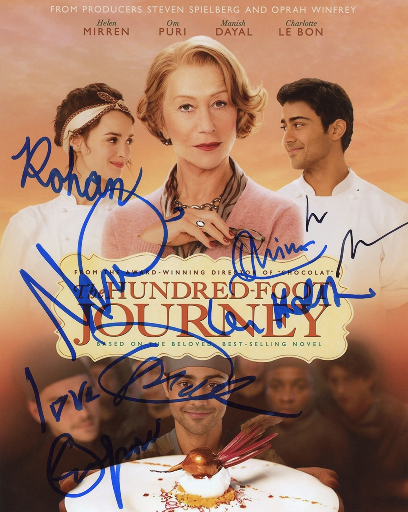 The Hundred Foot Journey Signed Photo