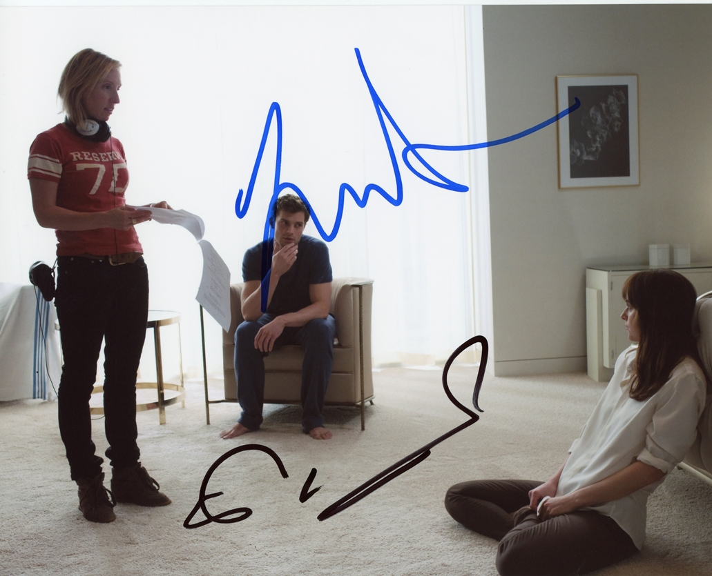 Jamie Dornan & Sam Taylor-Johnson Signed Photo