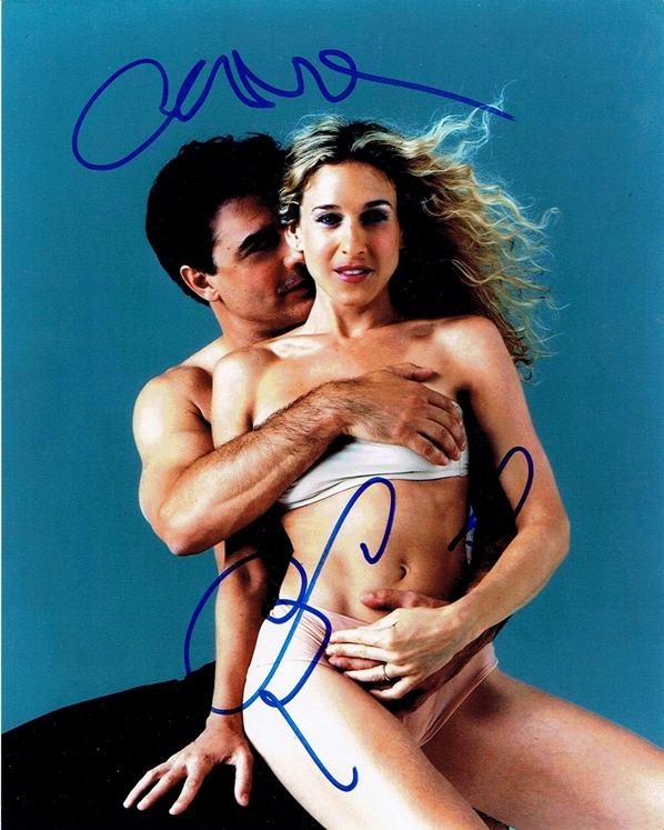 Sarah Jessica Parker & Chris Noth Signed Photo