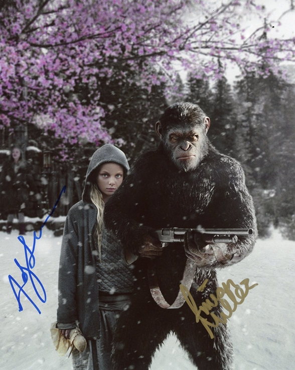 Amiah Miller & Andy Serkis Signed Photo