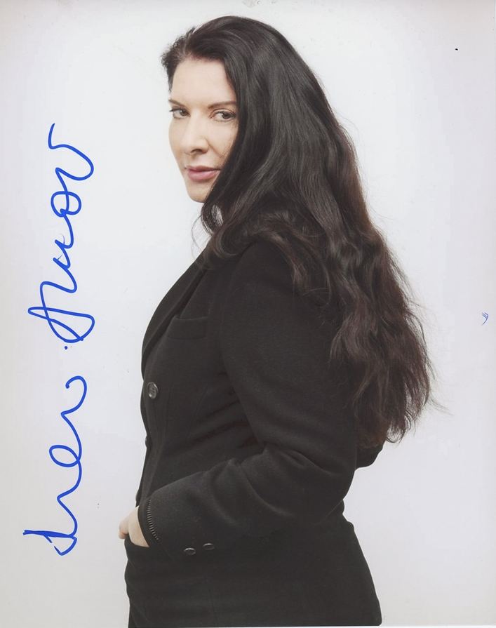 Marina Abramovic Signed Photo
