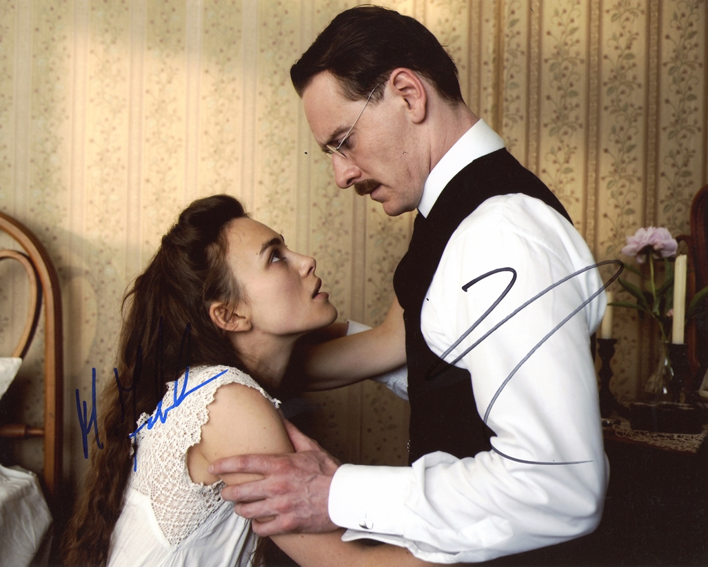 Michael Fassbender & Keira Knightley Signed Photo