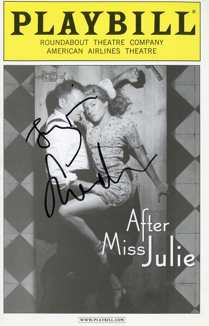 After Miss Julie Signed Playbill