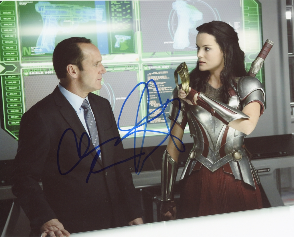 Clark Gregg & Jaimie Alexander Signed Photo