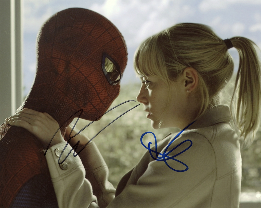 Andrew Garfield & Emma Stone Signed Photo