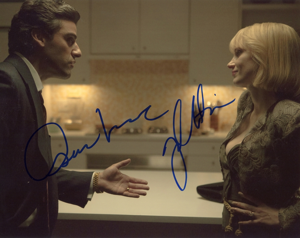 Oscar Isaac & Jessica Chastain Signed Photo