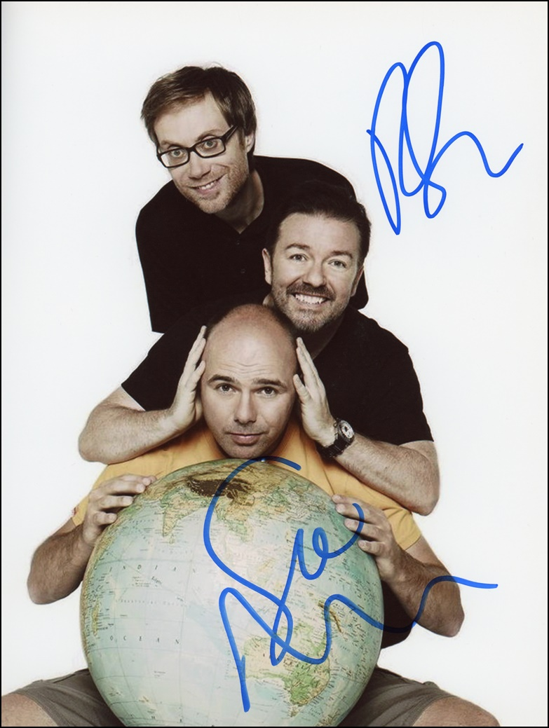 Ricky Gervais & Stephen Merchant Signed Photo