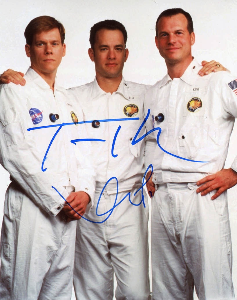 Tom Hanks & Kevin Bacon Signed Photo