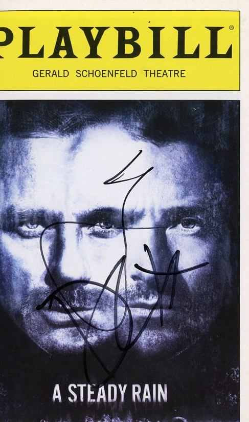 A Steady Rain Signed Playbill