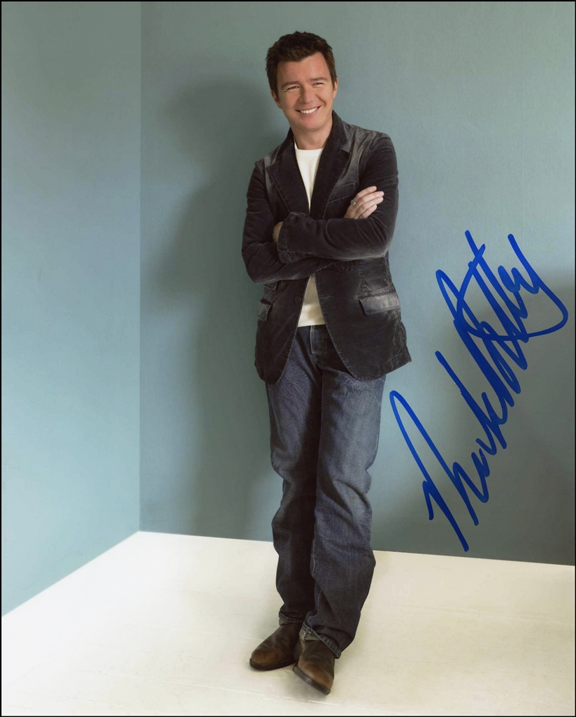 Rick Astley Signed Photo