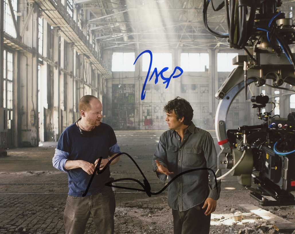 Joss Whedon & Mark Ruffalo Signed Photo