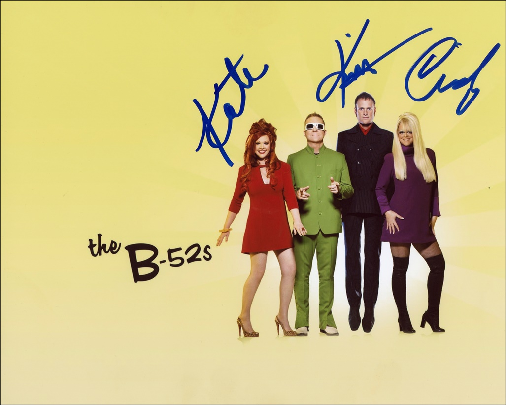The B-52s Signed Photo