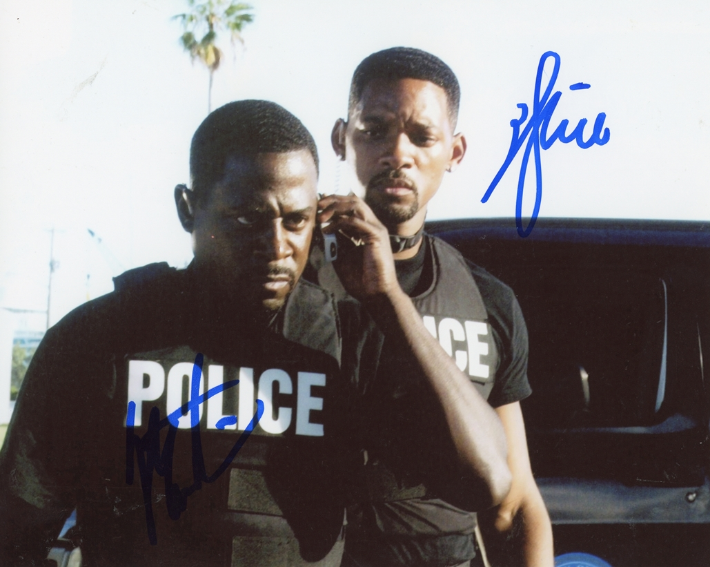 Will Smith & Martin Lawrence Signed Photo