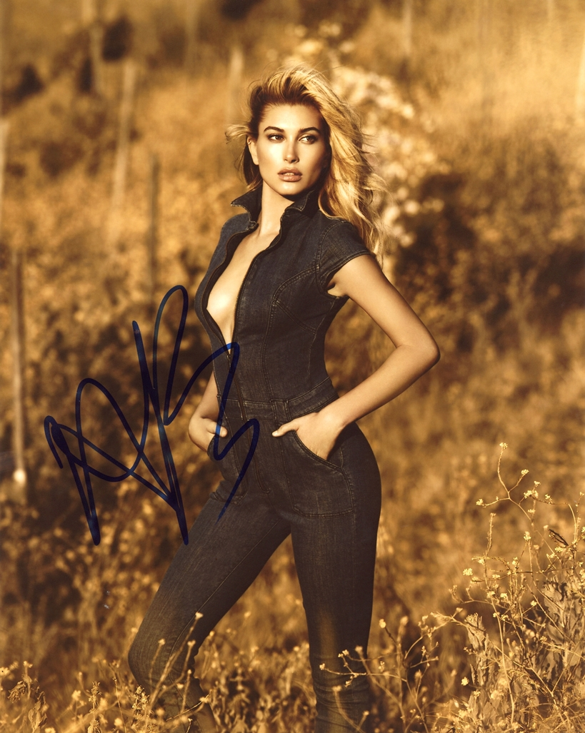 Hailey Baldwin Signed Photo