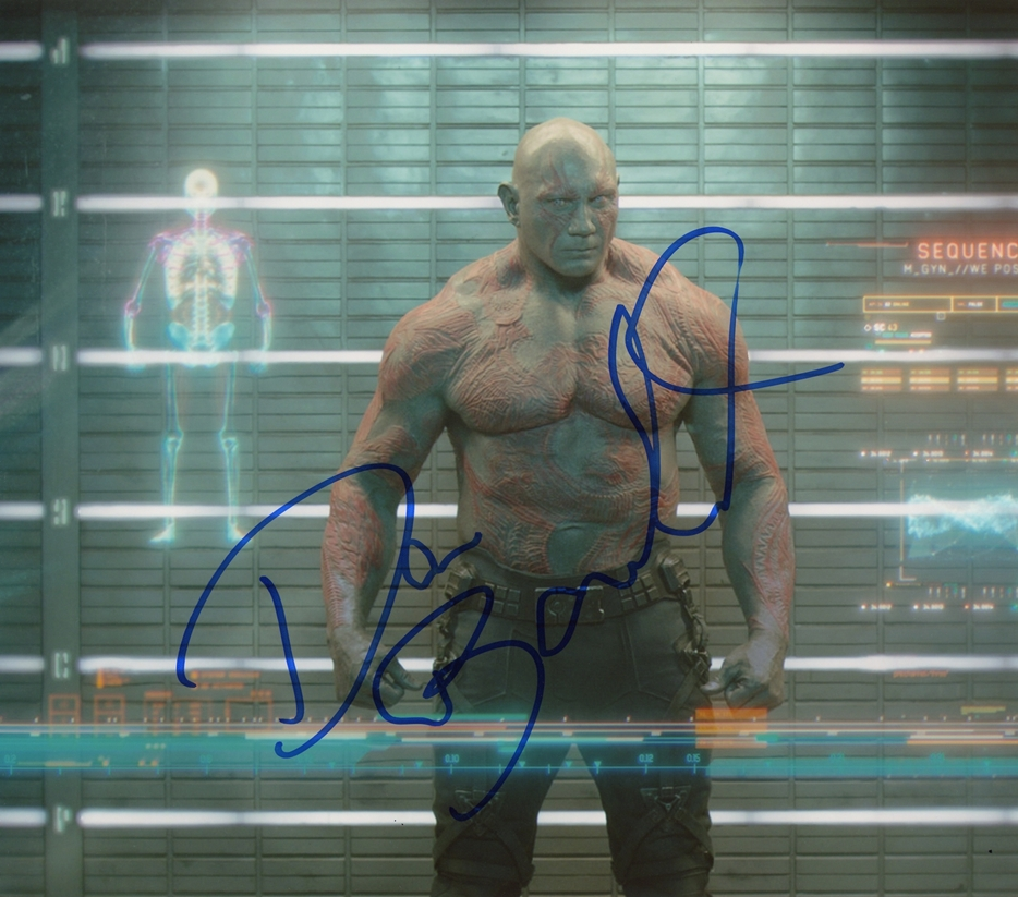 Dave Bautista Signed Photo