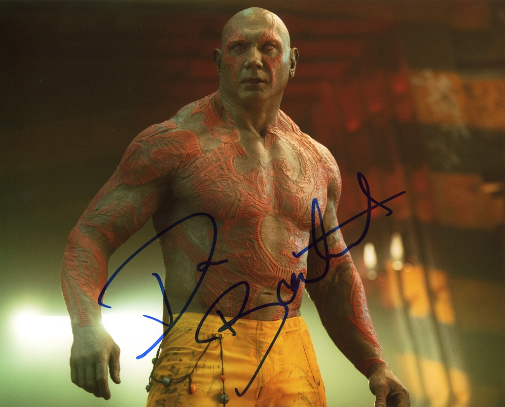Dave Bautista Signed Photo