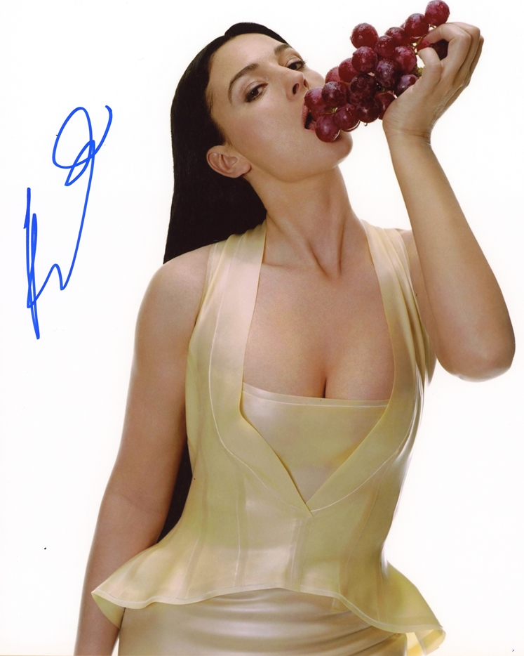 Monica Bellucci Signed Photo