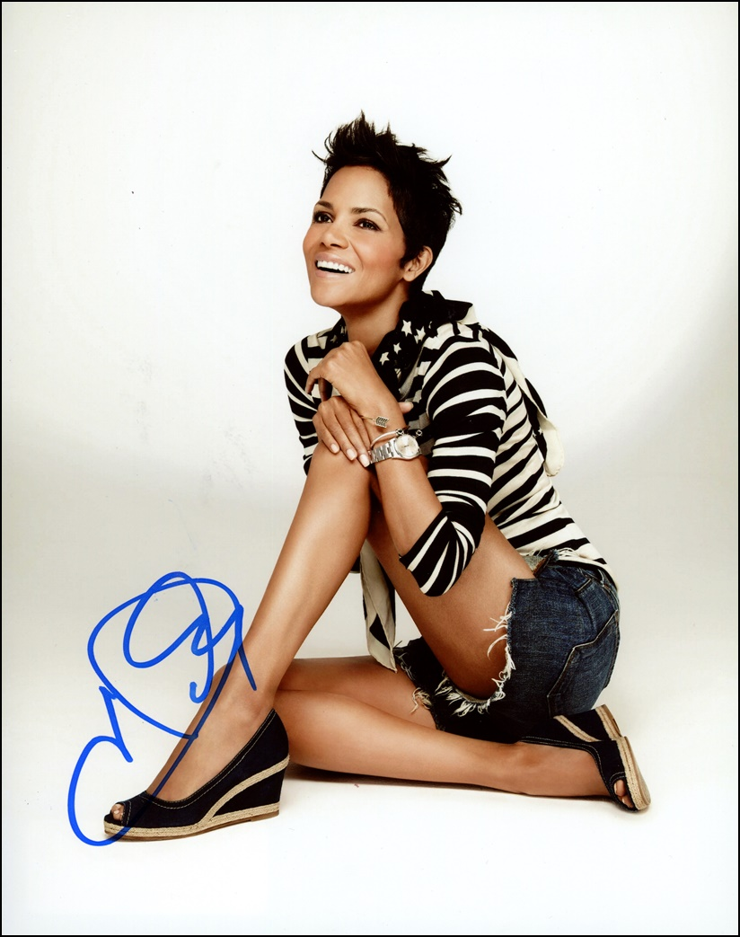 Halle Berry Signed Photo
