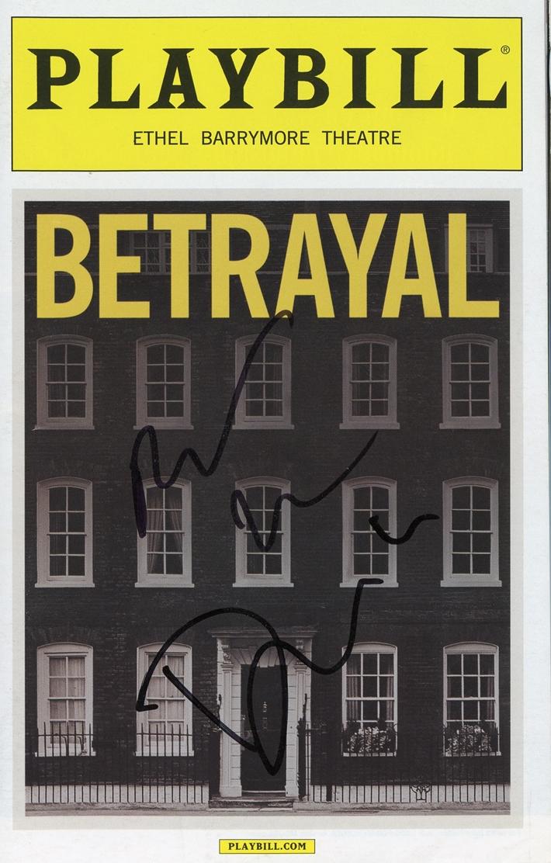 Daniel Craig & Rachel Weisz Signed Playbill