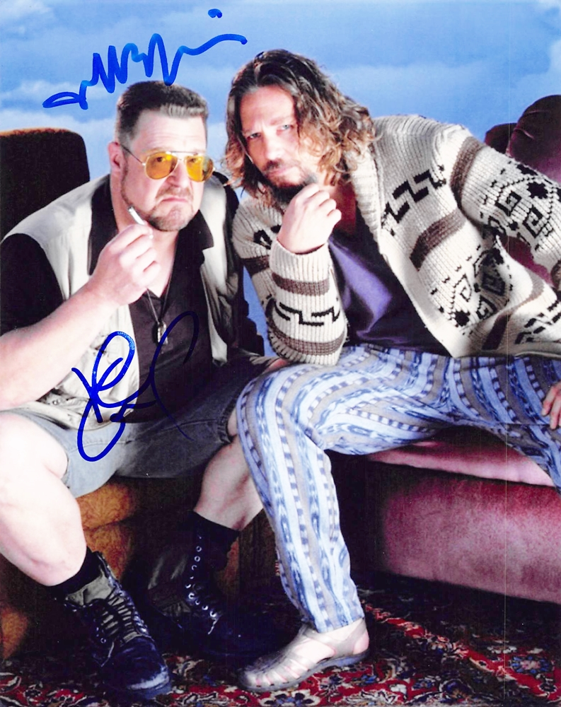 Jeff Bridges & John Goodman Signed Photo