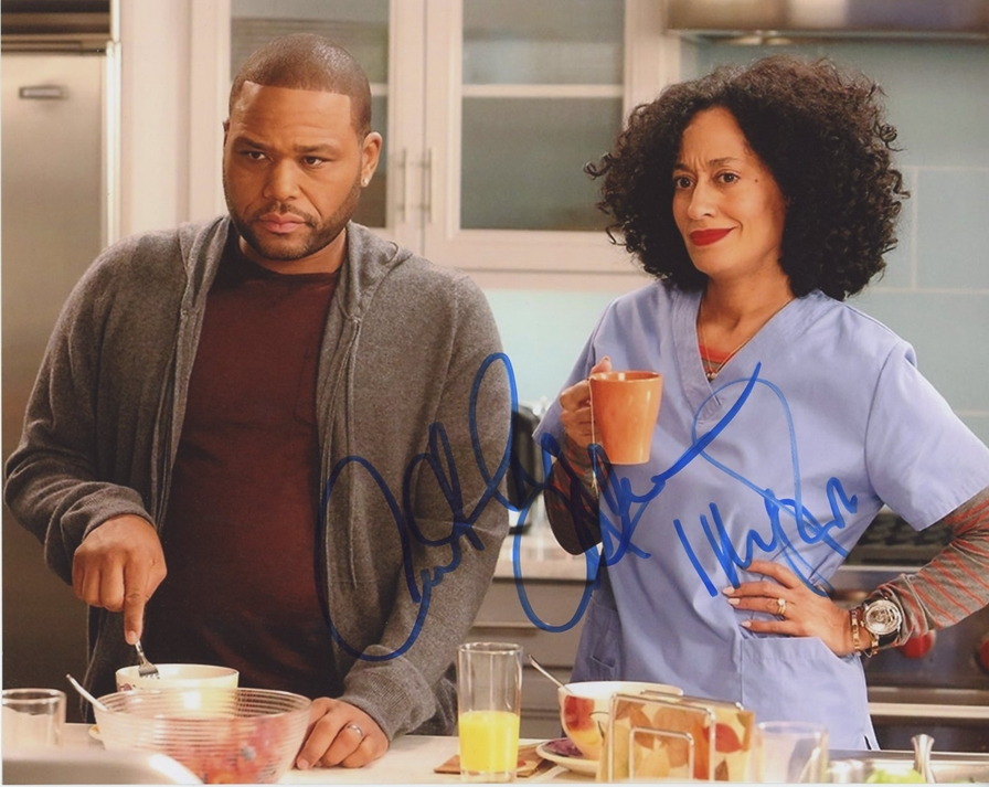 Anthony Anderson & Tracee Ellis-Ross Signed Photo