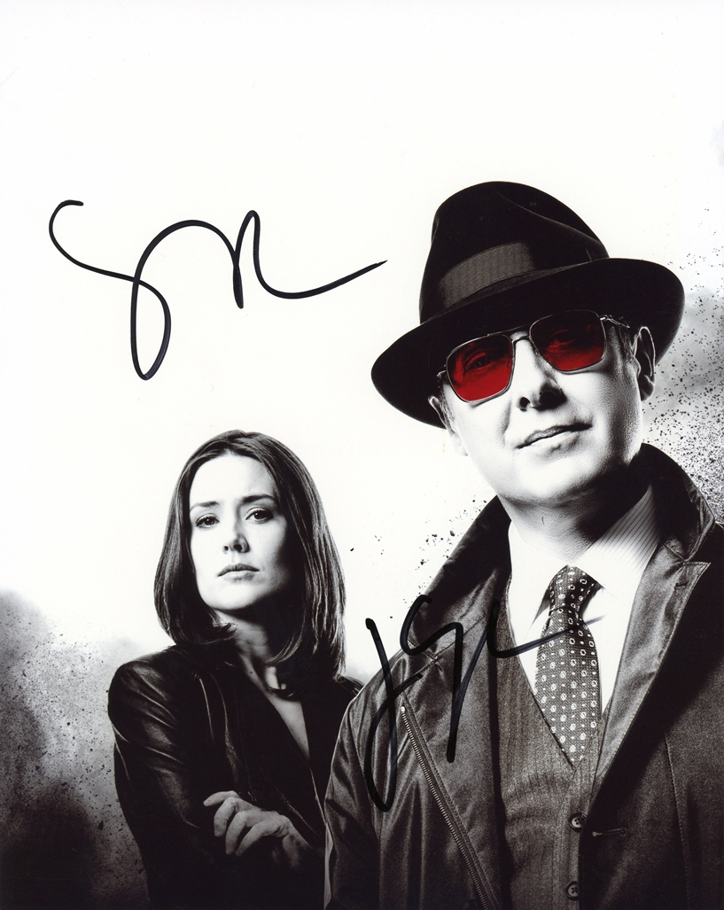 James Spader & Megan Boone Signed Photo