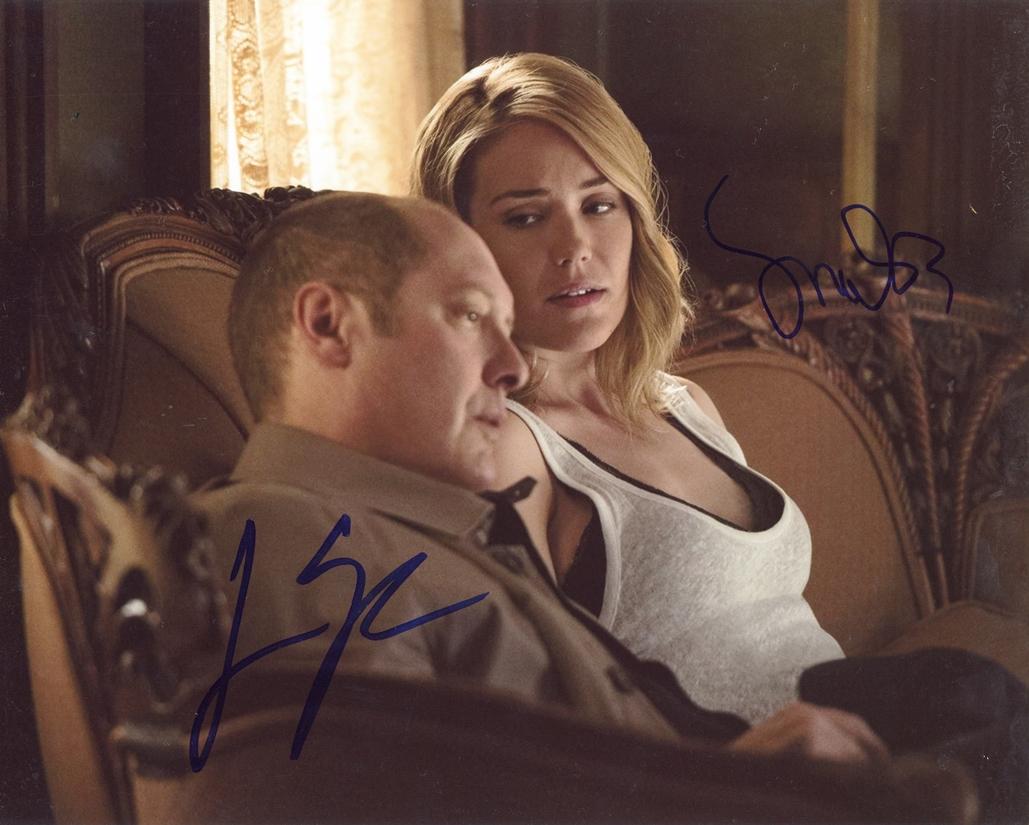 James Spader & Megan Boone Signed Photo