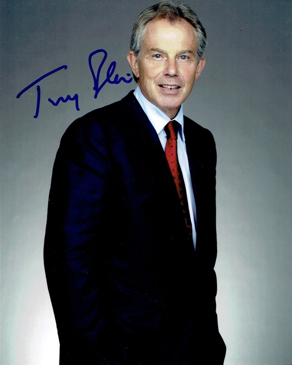 Tony Blair Signed Photo