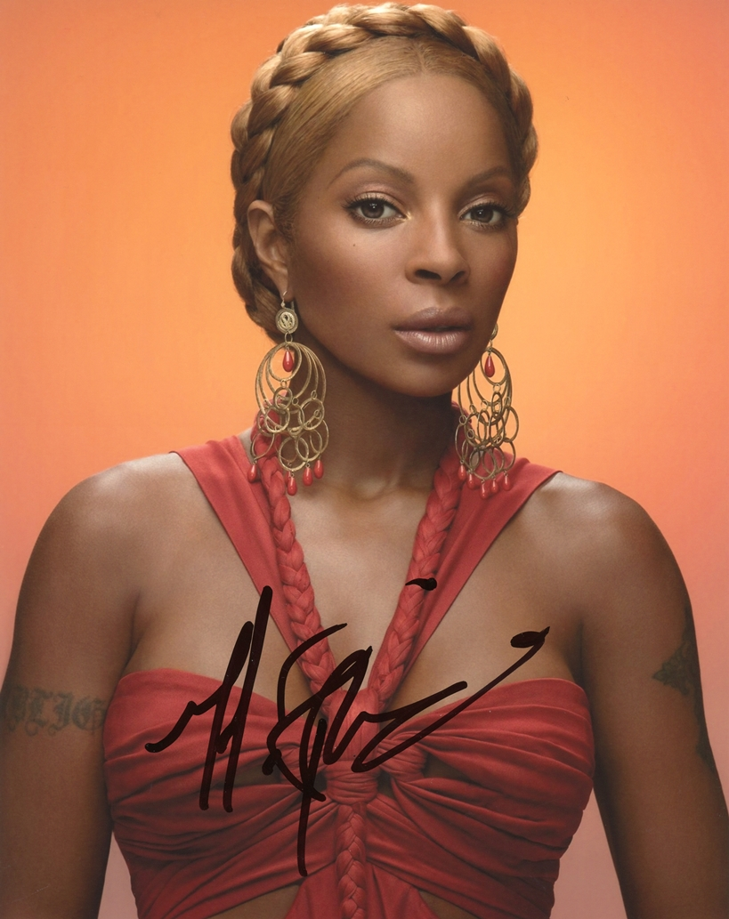 Mary J. Blige Signed Photo