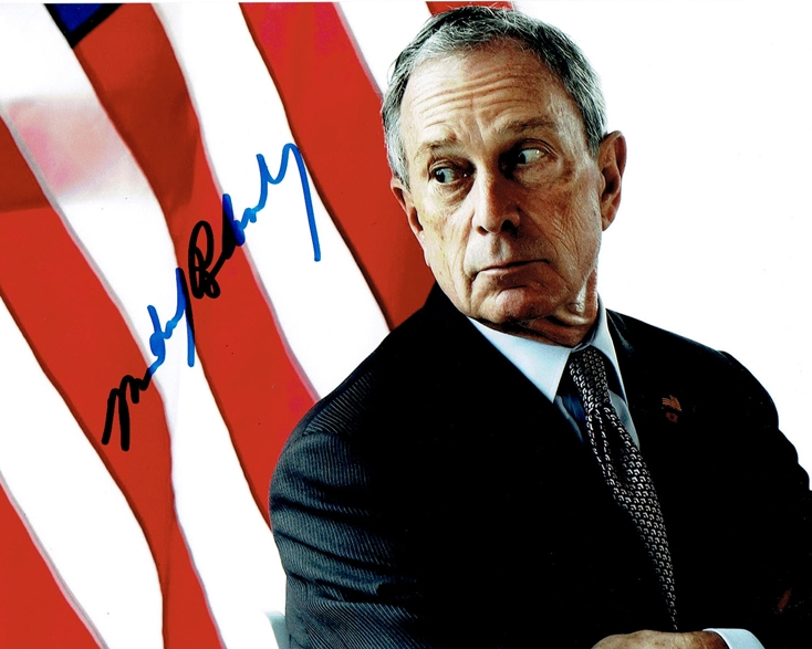 Michael Bloomberg Signed Photo