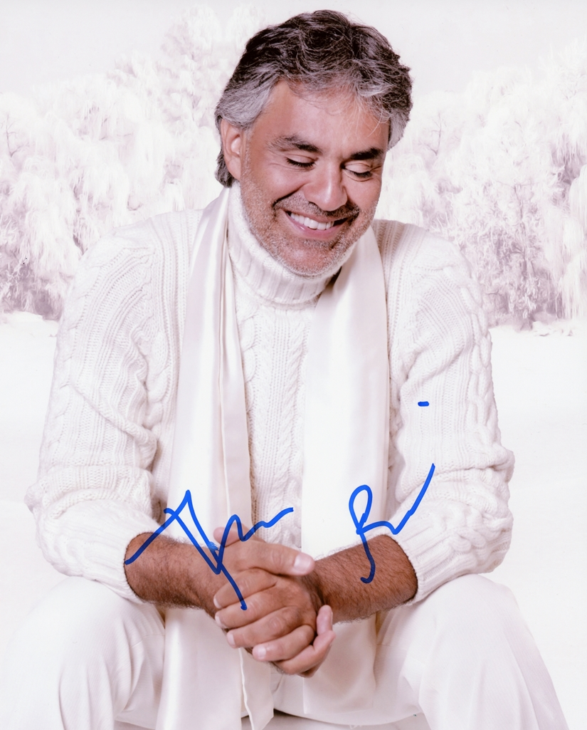 Andrea Bocelli Signed Photo