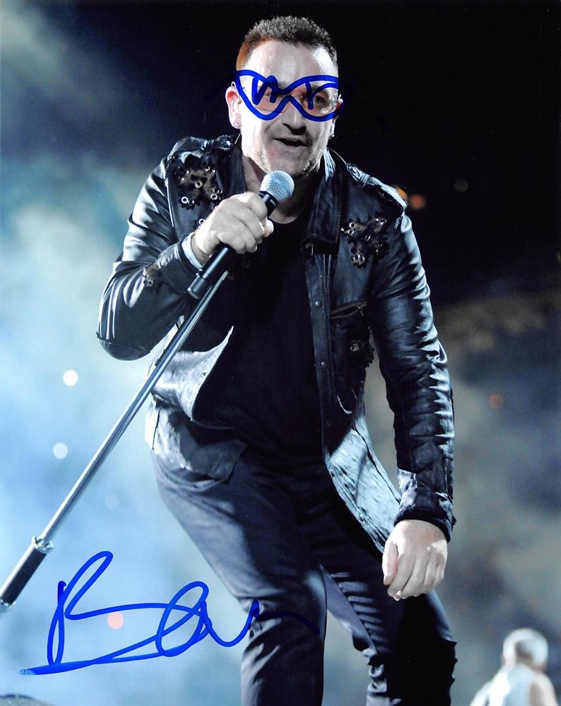 Bono Signed Photo
