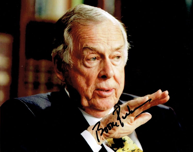 T. Boone Pickens Signed Photo
