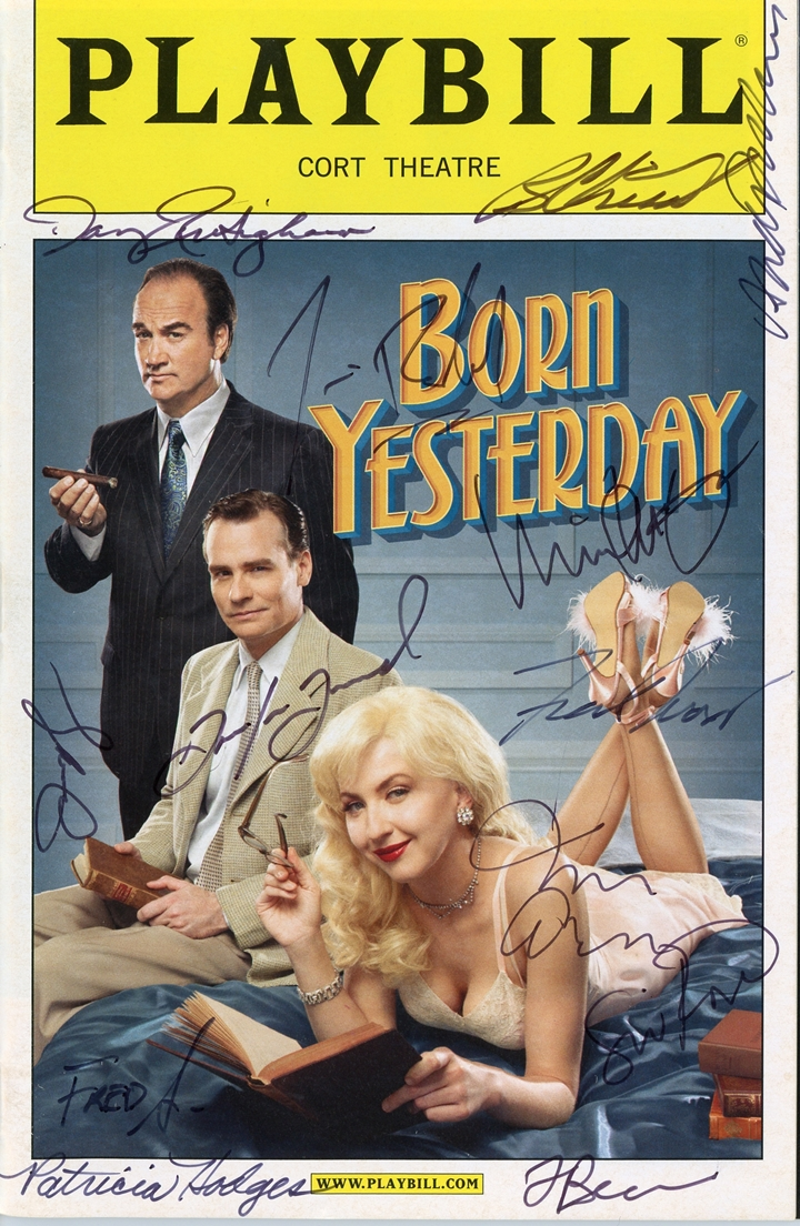 Born Yesterday Signed Playbill