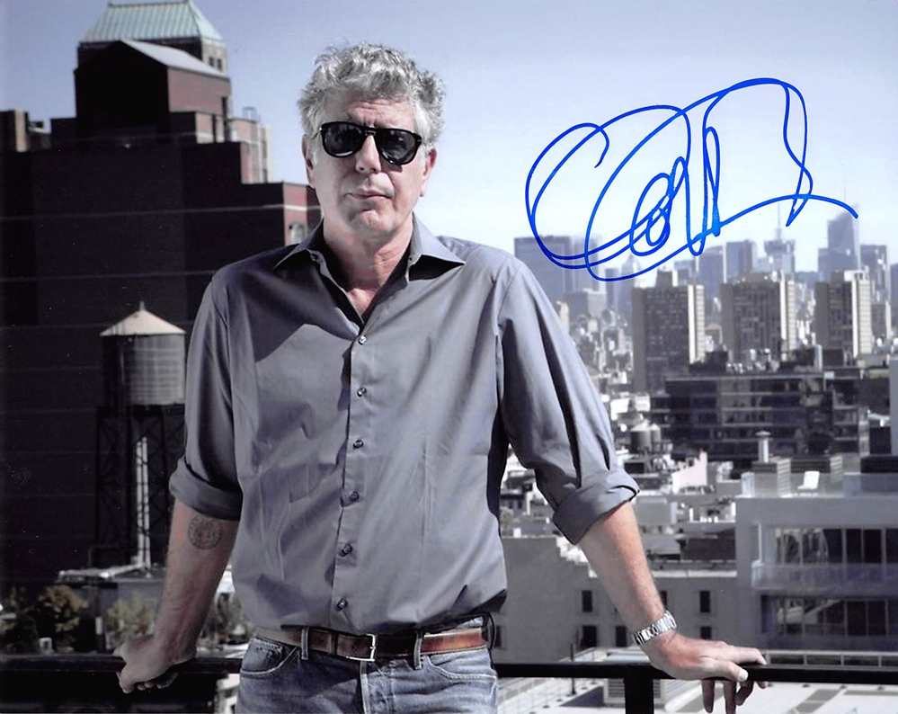 Anthony Bourdain Signed Photo