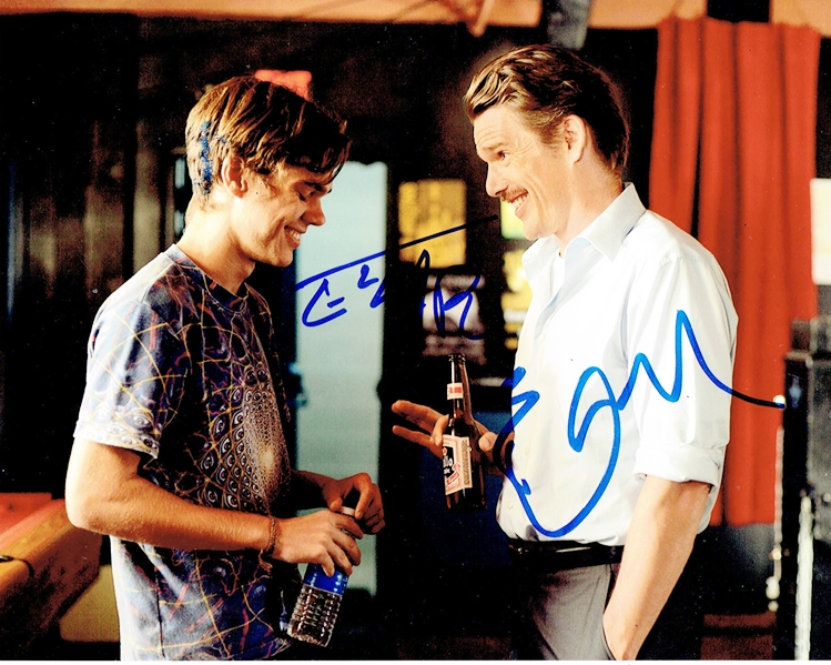 Ellar Coltrane & Ethan Hawke Signed Photo