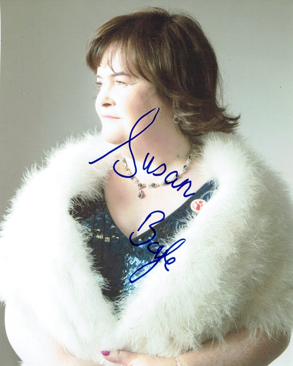 Susan Boyle Signed Photo