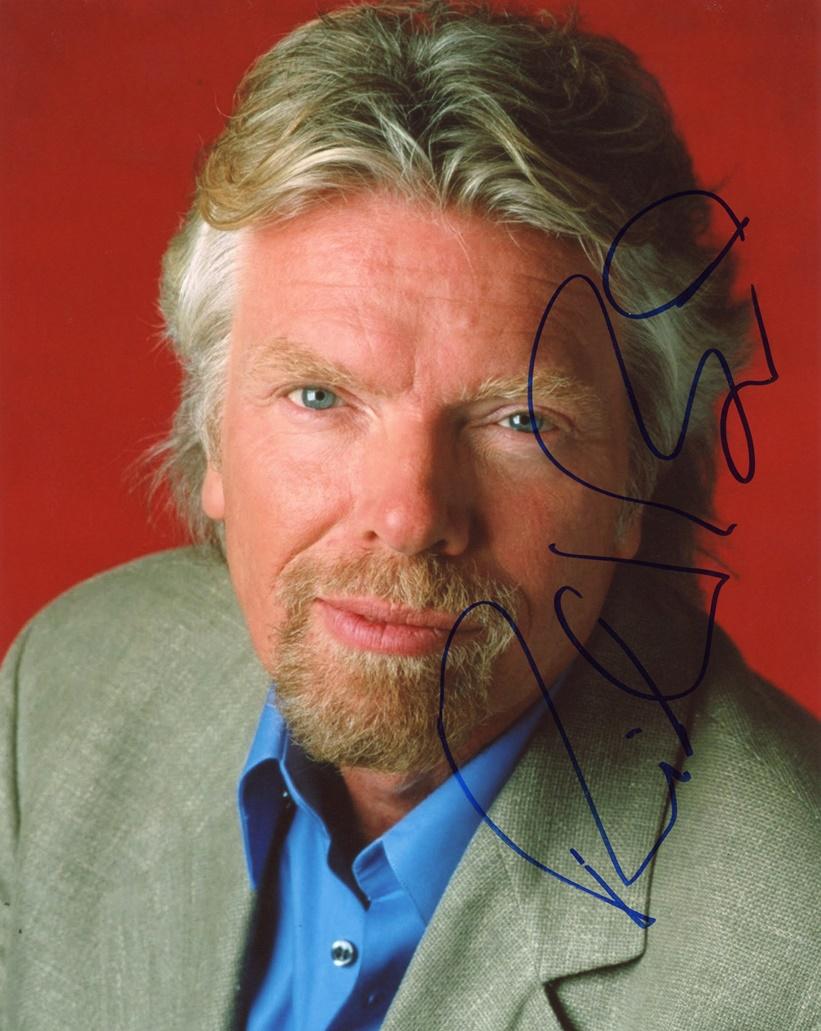 Richard Branson Signed Photo