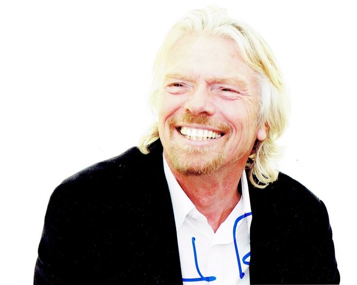Richard Branson Signed Photo