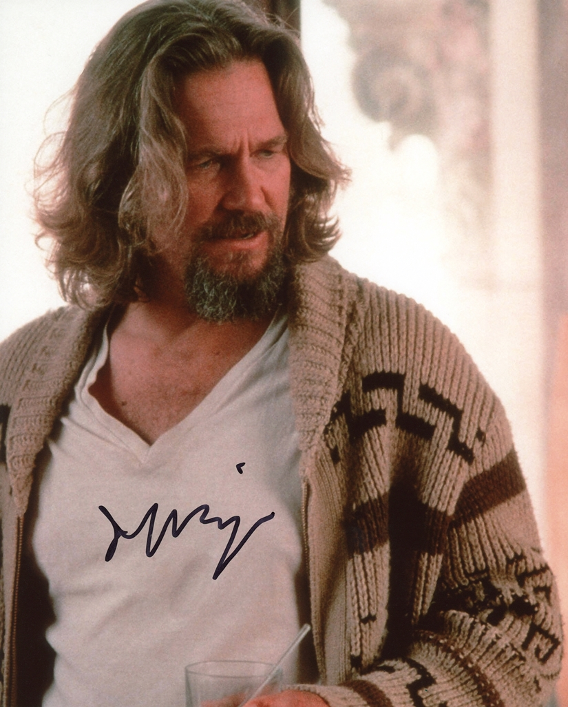 Jeff Bridges Signed Photo