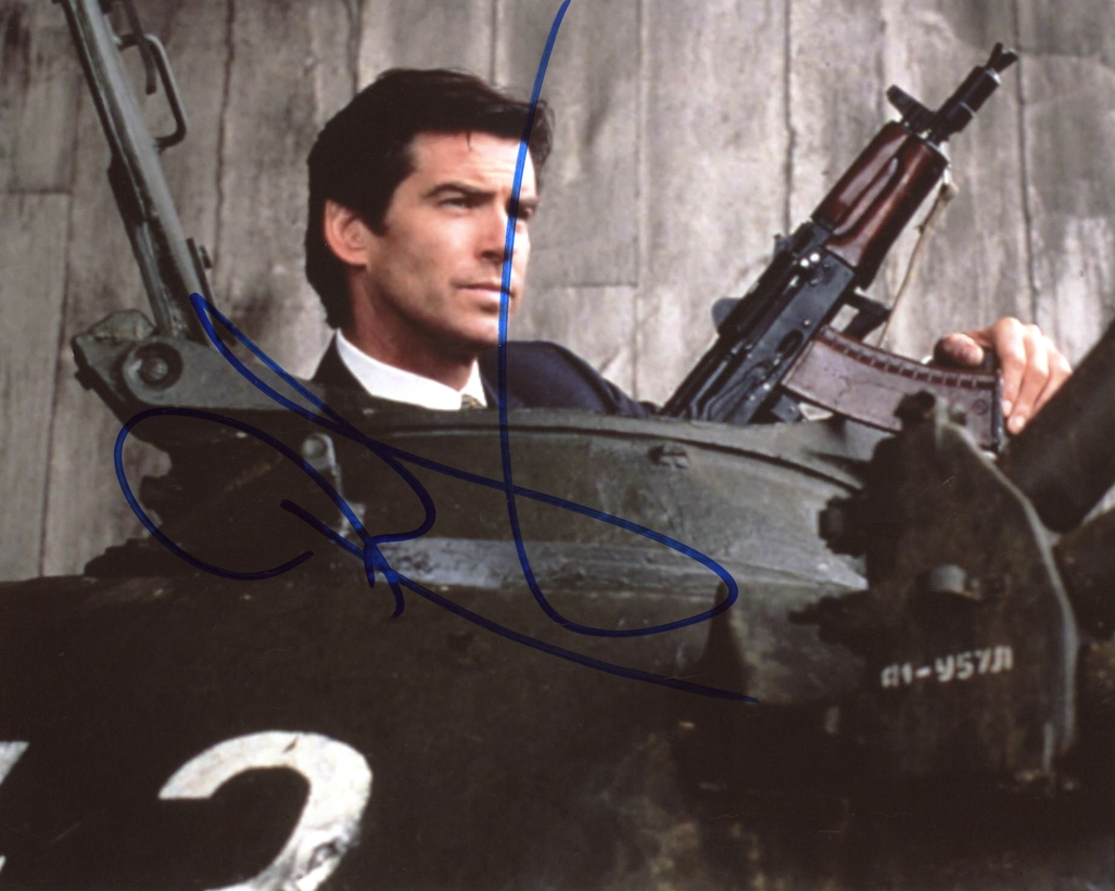 Pierce Brosnan Signed Photo