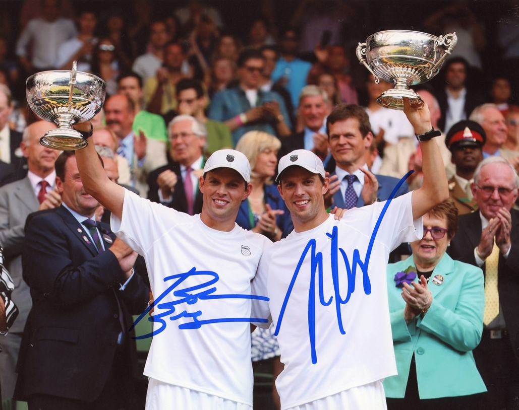 Bob & Mike Bryan Signed Photo