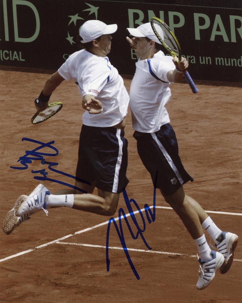 Bob & Mike Bryan Signed Photo