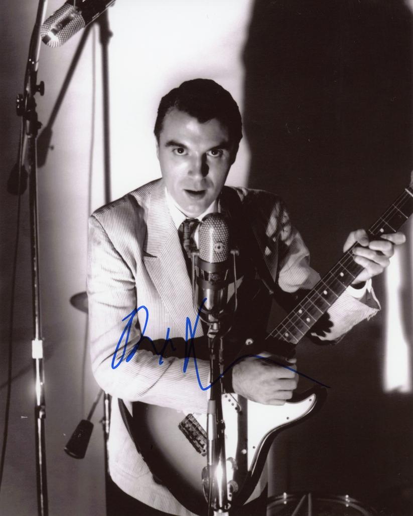David Byrne Signed Photo