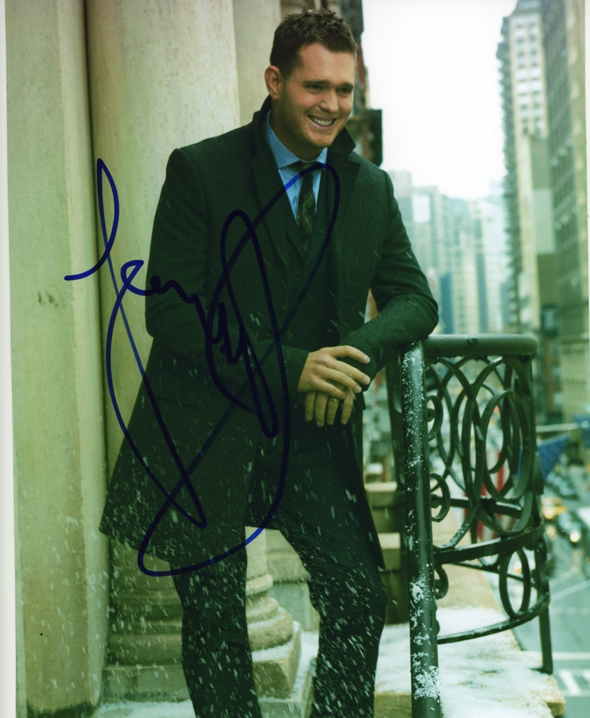 Michael Buble Signed Photo