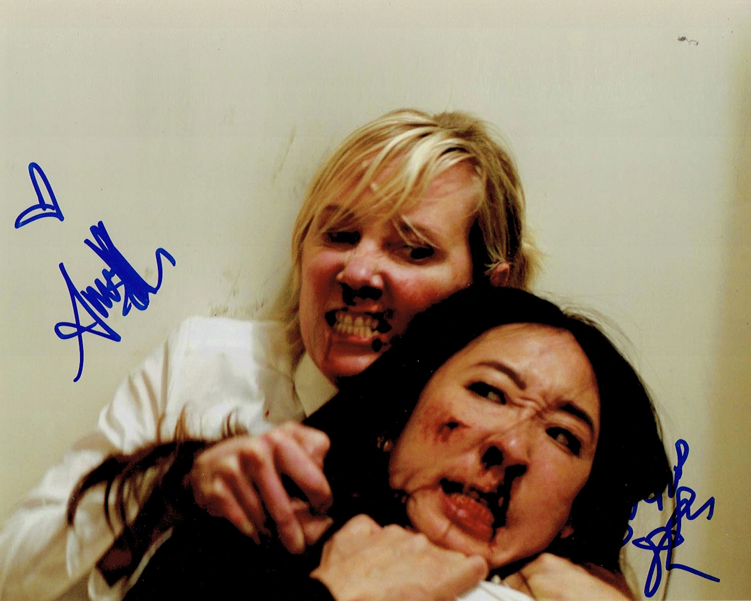 Anne Heche & Sandra Oh Signed Photo