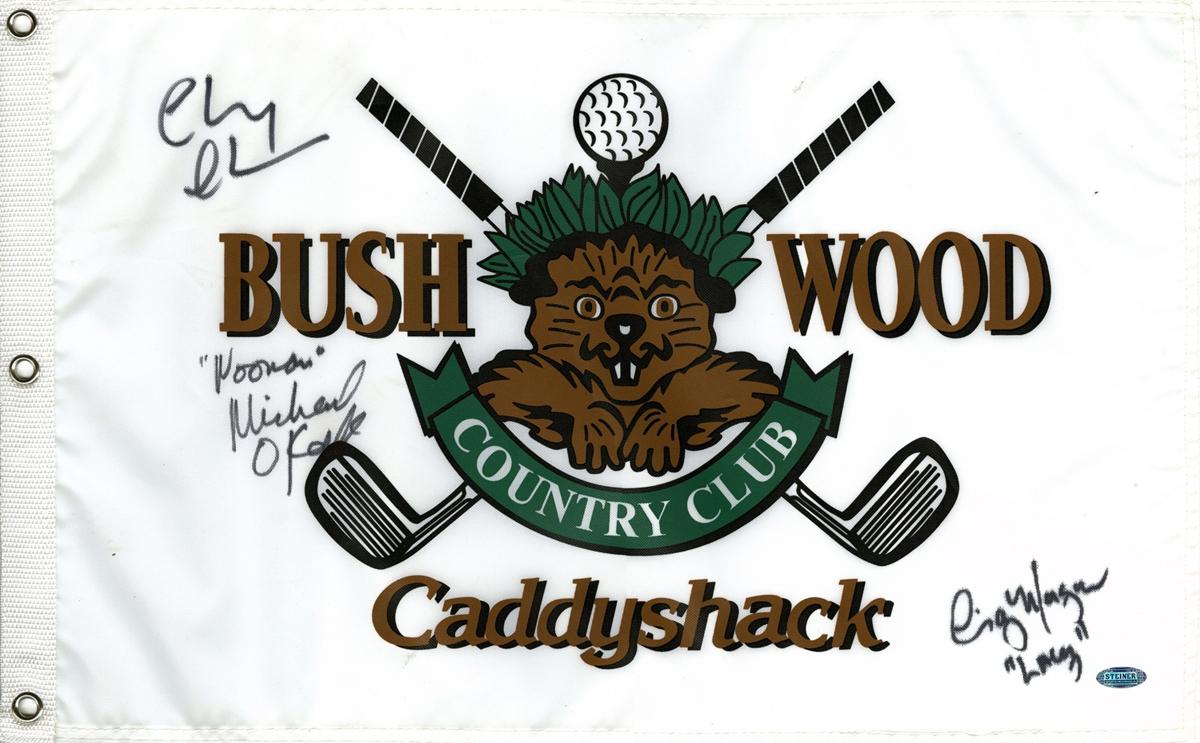 Caddyshack Signed Flag
