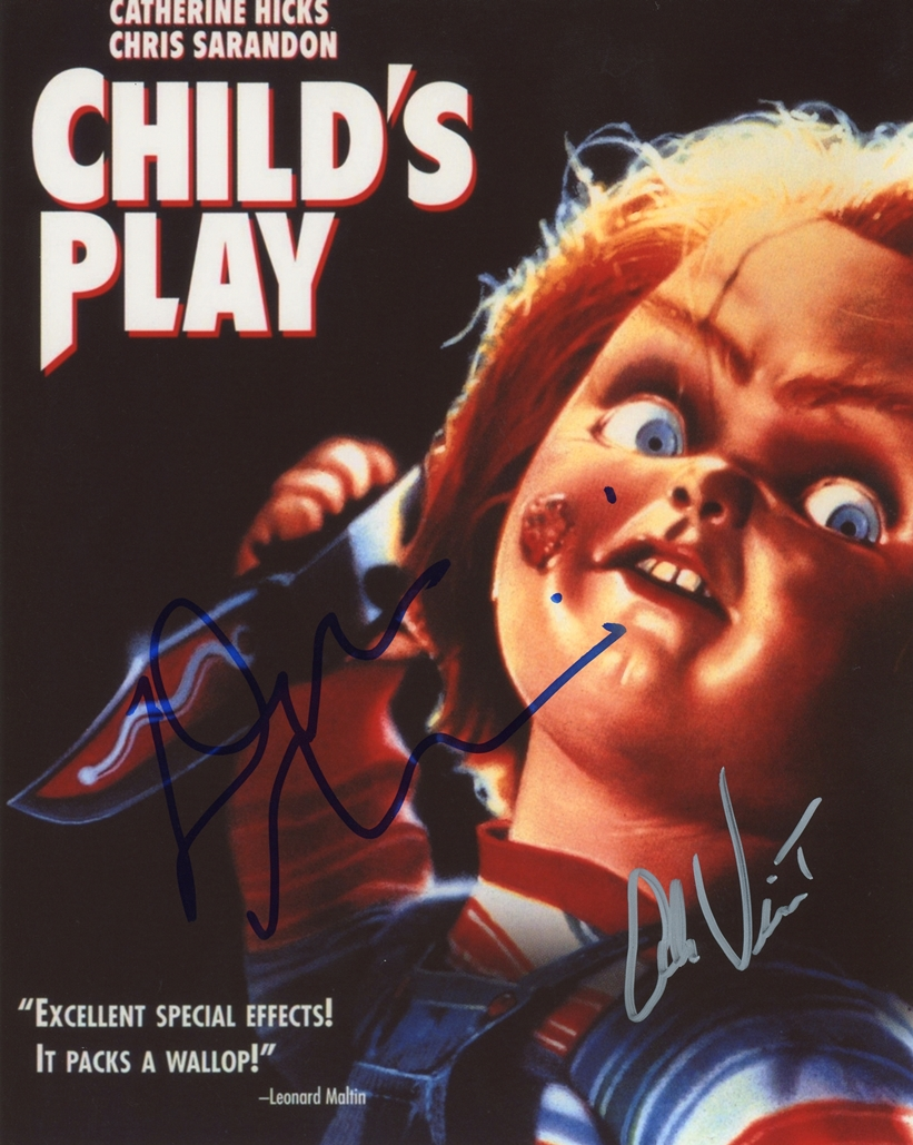 Don Mancini & Alex Vincent Signed Photo