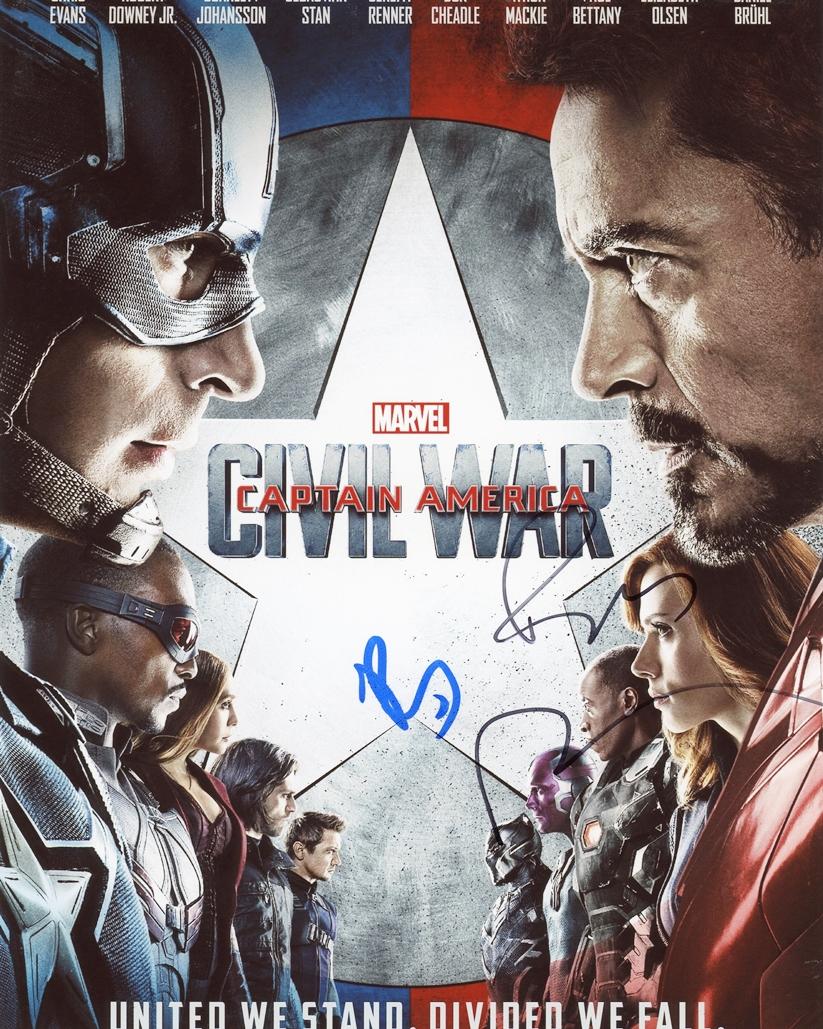 Robert Downey, Jr. & Paul Rudd Signed Photo