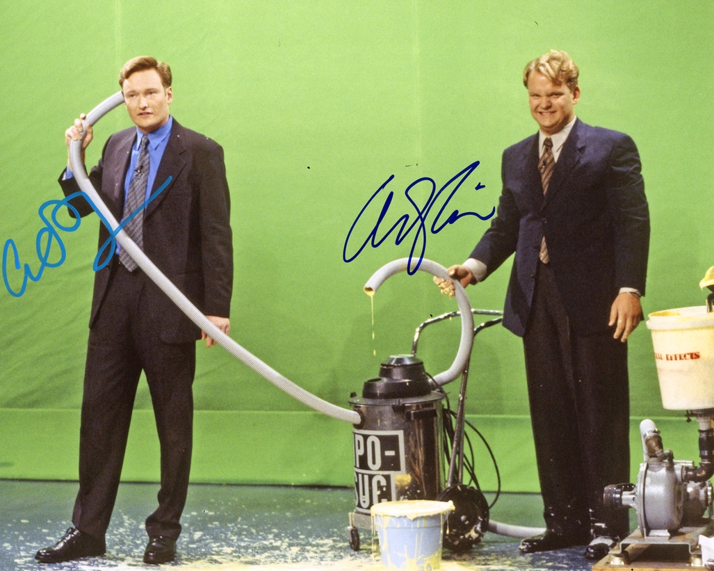 Conan O'Brien & Andy Richter Signed Photo
